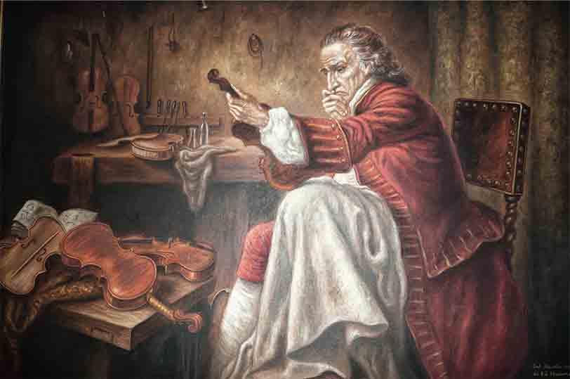 Dipinto a olio dalla collezione del Maestro Ansaldo Poggi, liutaio in Bologna.